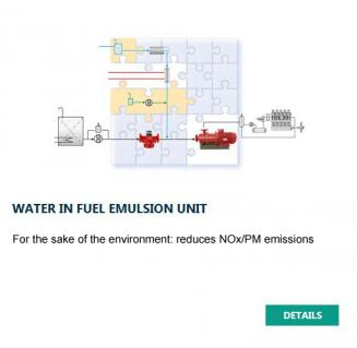 Water in Fuel Emulsion Unit